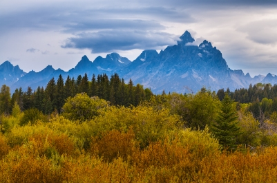 Grand Tetons fall