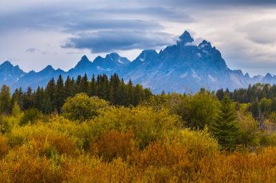 Grand Tetons fall